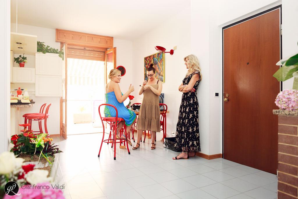 momenti in famiglia prima del matrimonio