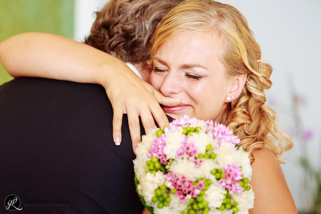 commozione e lacrime per il matrimonio