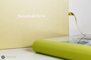 un bellissimo album verde per il vostro matrimonio