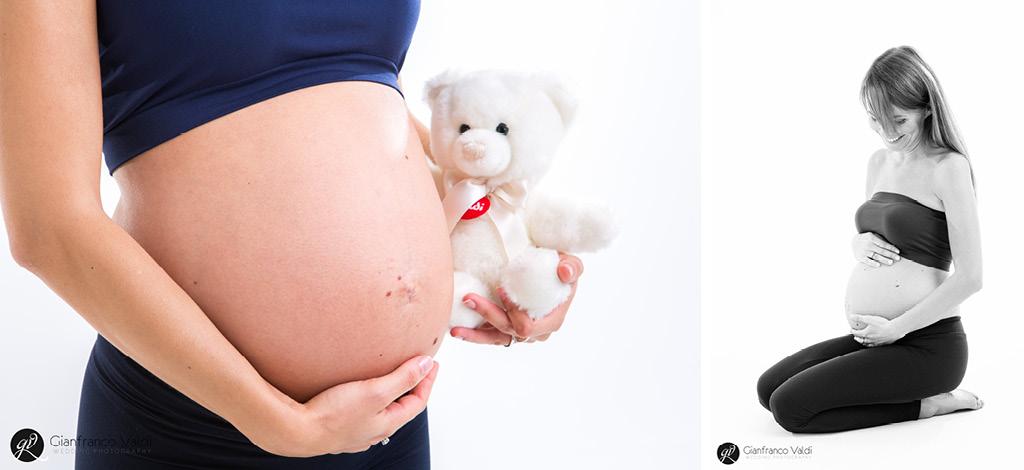 due immagini di una meravigliosa futura mamma
