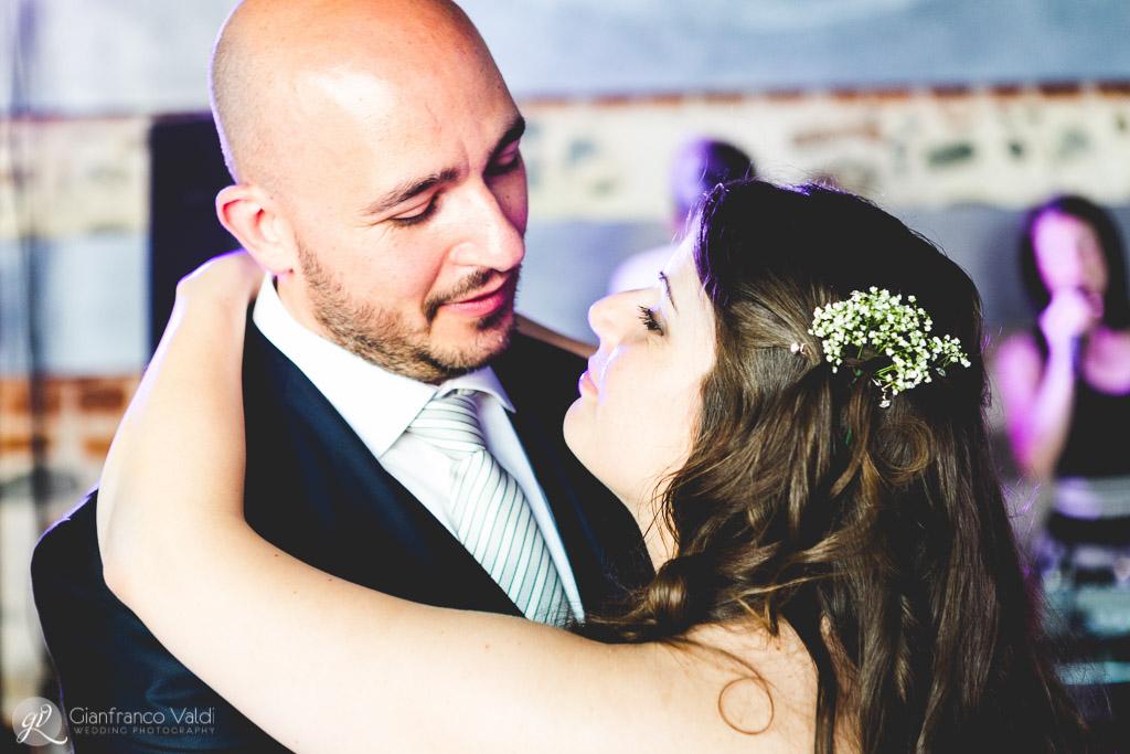 Un momento del ballo di Monica e Michele