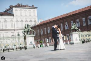 Una foto scattata a Torino per il matrimonio fra Enrico e Stefania