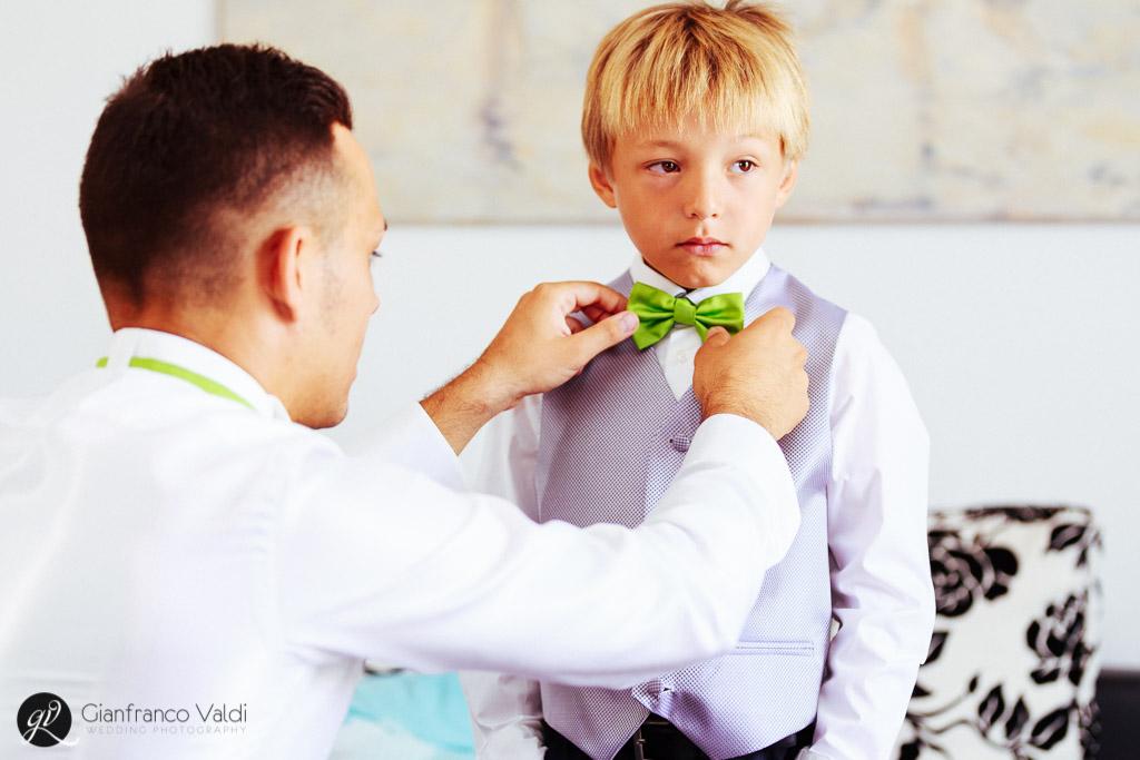 un meraviglioso cravattino anche per il bambino