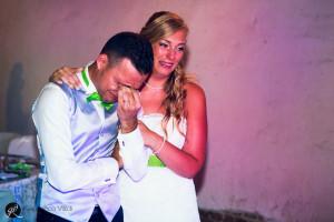un matrimonio in cui gli sposi si sono emozionati