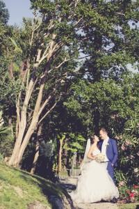 una fotografia colta da distante dopo il matrimonio
