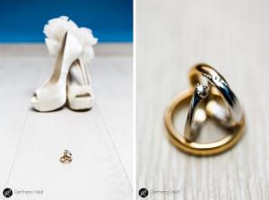 foto creativa dei dettagli della sposa