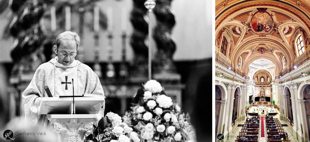 stupenda immagine scattata durante la messa del matrimonio