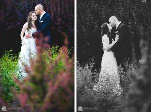 Fotografie romantiche e naturali nella location del ricevimento